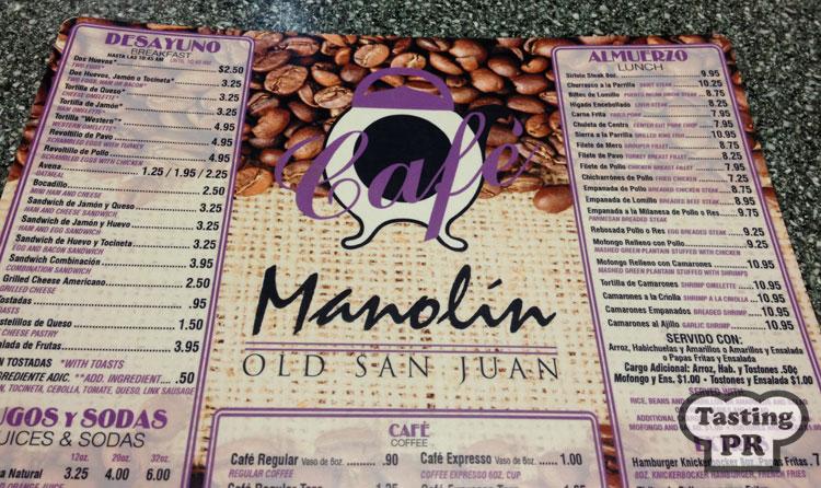 Cafe Manolin Old San Juan