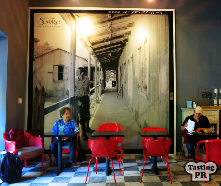 Cafe Cuatro Sombras in Old San Juan