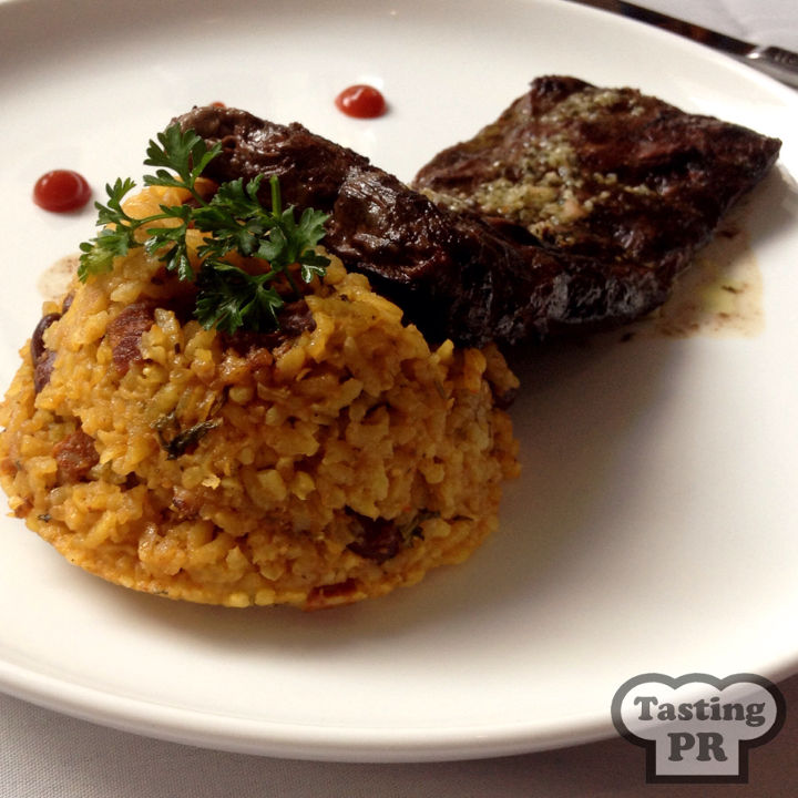 Churrasco and Mamposteo Rice at La Mallorquina Old San Juan