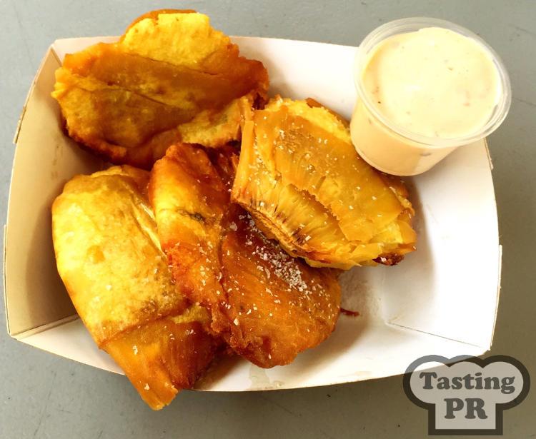 Tostones de Pana at Cafe Tresbe San Juan
